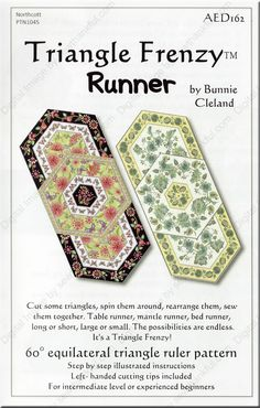 ON SPECIAL...Triangle Frenzy Runner sewing pattern from Bunnie Cleland