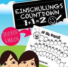 Kostenlose Downloadvorlage für das Schulkind! Unsere Countdown Raupe zur Einschulung als Freebie! Wir zählen die Tage bis zum Schulanfang! Mit unserer Druckvorlage macht das Warten sogar Spaß!