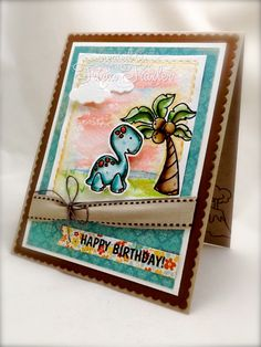 {Sugar Pea Designs Sketch Challenge} Prehistoric Birthday