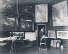 Pierre C. Puvis de Chavannes (vers 1885 - Photographie attribuée à Émile Bernard)