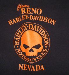 Chester's Reno Harley Davidson Motorcycles Nevada Tshirt Size Large