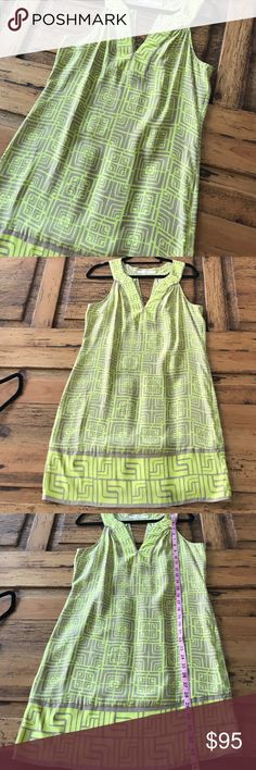 ALICE & TRIXIE 100% Silk Summer Dress Unworn condition and 20% off any 2! The colors are a neon yellow/green and a neutral nude color. Is gorgeous! Alice & Trixie Dresses