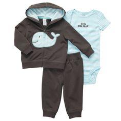 3-Piece Cardigan Pant Set | Baby Boy Sets