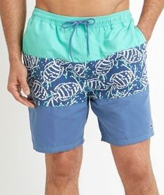 Long summer days on the beach or boat will float by blissfully in these comfortable, quick-drying men's swim trunks.
