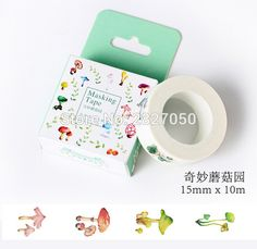 >> Click to Buy << 10 Meters Fresh Style Novelty Mushrooms Tape Adhesive Tape DIY Scrapbooking Sticker Label Toy Stickers For Kids #Affiliate