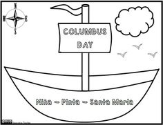 Columbus Day Coloring Page FREEBIE- Innovative Teacher