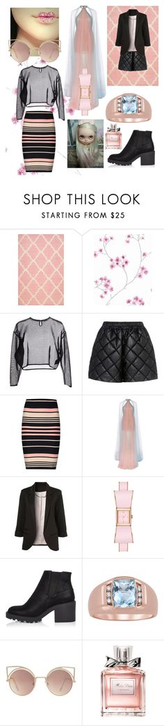 """""""Modern Pink"""" by beanpod ❤ liked on Polyvore featuring nuLOOM, Yves Saint Laurent, STELLA McCARTNEY, Miss Selfridge, Marchesa, Kate Spade, River Island, MANGO, Christian Dior and modern"""