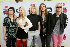 R5 Hit The iHeartRadio Music Awards 2016 - See All The Pics!: Photo #951349. Rydel Lynch and Ellington Ratliff stick together in a big R5 photo at the 2016 iHeartRadio Music Awards held at The Forum on Sunday (April 3) in Inglewood, Calif.…