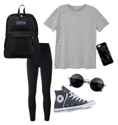 """Untitled #12"" by tamas-erdos on Polyvore featuring Converse, adidas Originals, MANGO MAN, Recover, JanSport, men's fashion and menswear"