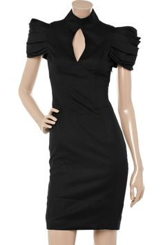 Bird by Juicy Couture - lace-up wool-blend dress