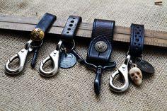 Black leather keychains