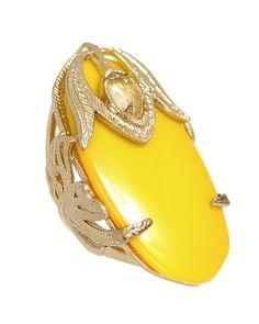 Dani Ring in Sarong Yellow - Kendra Scott Jewelry