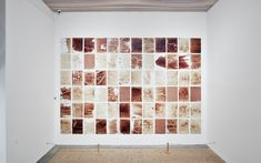 Teresa Margolles - Papeles, 2004. Paper soaked in water used to wash corpses as well as the blood and bodily fluids from the corpses