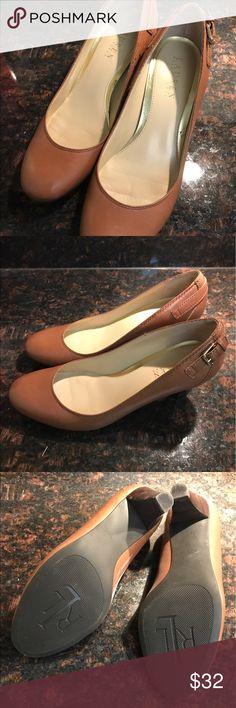 Ralph Lauren Low Heels Round toe. Slightly worn with little-to-no wear on the soles. Lauren Ralph Lauren Shoes Heels
