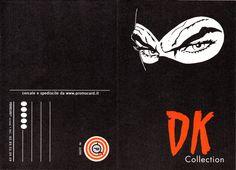 """PROMOCARD n. 2299 2001 - DIABOLIK: """"DK collection"""" (cartolina doppia e apribile - fronte)"""