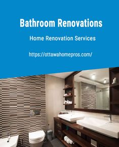 Bathroom Renovations  When choosing a contractor for your next Ottawa bathroom renovation it is important that you make sure they have all the necessary skilled professionals to get the job done right. Whether it is electrical, plumbing, tile setting or painting, Ottawa Home Pros have all the skills necessary to make sure your bathroom renovation is not only an enjoyable but also an exciting experience. For many years now we have been successfully completing full bathroom ren