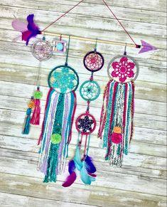 Boho Nursery, Nursery Decor, Boho Dreamcatcher, Boho Wall Hanging, Boho Wedding Decorations, Dream Catcher Boho, Beautiful Textures, Wall Hangings, Pink Roses