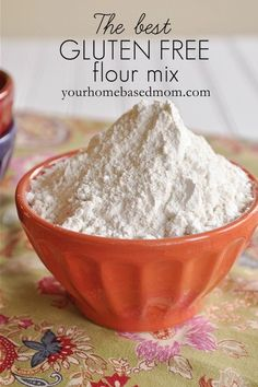 Cup for cup, make your own Gluten Free Flour Mix! 1 C each of white rice flour,