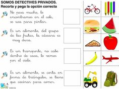somos detectives privados2 Maila, Spanish Vocabulary, Spanish Classroom, Speech Therapy, Middle School, Language, Teaching, Activities, Writing