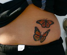 A small butterfly tattoo can represent many things like freedom, beauty and love. Check out this collection of 22 Awesome Small Butterfly Tattoo designs. Yellow Butterfly Tattoo, Butterfly Tattoo Cover Up, Butterfly Tattoo Meaning, Butterfly Tattoo On Shoulder, Butterfly Tattoos For Women, Butterfly Tattoo Designs, Shoulder Tattoo, Trendy Tattoos, Cute Tattoos
