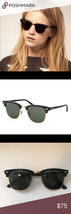 Rayban Clubmaster Excellent condition Rayban clubmasters with no scratches or noticeable wear. Great summertime sunglasses. Ray-Ban Accessories Sunglasses