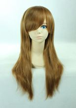 Big sale high quality cheap medium straight synthetic Fujioka Haruhi hair wigs Hetalia Hungary Elizaveta brown anime cosplay wig(China (Mainland))
