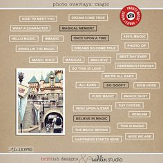 Project Mouse - Photo Overlays | Magic [ a collaboration ]  by britt-ish designs and sahlin studio Pocket style scrapbooking is all the rage right now, and for good reason.  It...