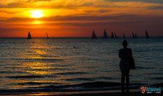 Sunset at St Kilda Beach, Melbourne, Australia