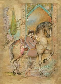 Devin Art, Iranian Art, National Art, Horse Drawings, Fantasy Paintings, Indian Artist, Horse Art, Botanical Illustration, Bird Art
