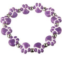 Ceramic Purple Paw Bracelet $4.86 (funds 14 bowls of food)