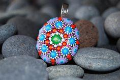 Image of Colorful Mandala Pendant Stone 27