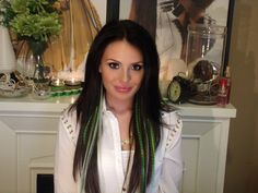 Green hair feathers and mint green hair extension highlights! (DIY)