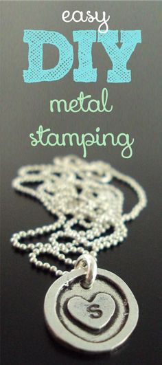 DIY Metal Stamping, so easy and will make great gifts!