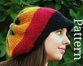 Knitting Pattern - Knit Hat Knitting pattern PDF - Rasta Hat Pattern - Winter Accessories Reggae Hat with or without brim Adorable hat. Marley Crochet, Knit Or Crochet, Crochet Hats, Crochet Ideas, Crochet Mittens, Crochet Projects, Bonnet Rasta, Warm Winter Hats, Cute Hats