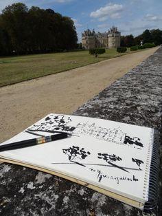 another day another sketch #artistinchateau #park #zoiaskoropadenko #ContemporaryArt @chateau
