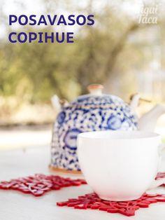 Posavasos Copihue, flor nacional de Chile.  #handmadeinchile #copihue