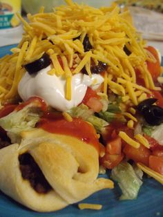 Crescent Roll Tacos! Super easy and delicious!  Repinned by Surviving #Mesothelioma http://www.survivingmesothelioma.com