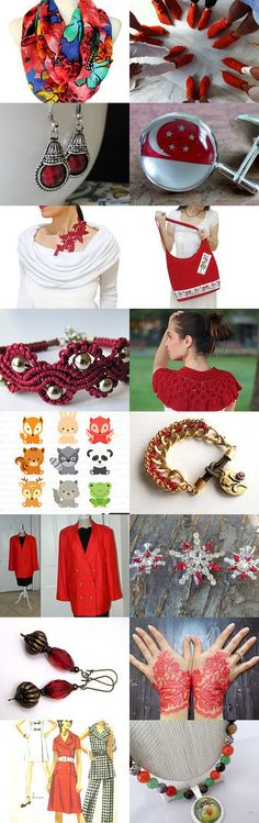 Beauty of Red.... by Handmade Covers on Etsy--Pinned with TreasuryPin.com