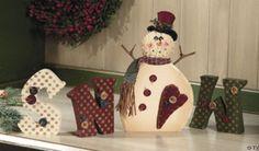 Wood SNOW Man Letters, Snowmen & Frosty Friends Craft