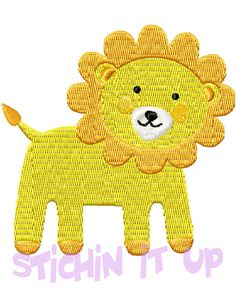 4X4 Baby Lion Machine Embroidery Design Multiple by StichinItUp, $2.00