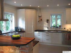 Vårat kök i New England stil! Kitchen Dinning Room, New Kitchen, Kitchen Ideas, Swedish Decor, Modern Kitchen Design, Kitchen Interior, New England, Kitchen Remodel, Kitchens