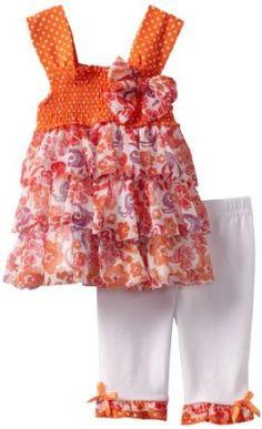 Amazon.com: Little Lass Baby-Girls Infant 2 Piece Printed Skimmer Set: Clothing