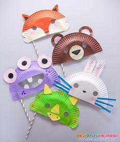 kağıt tabak ile sevimli hayvanlar yapalım