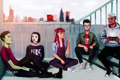 """""""Teen Titans"""" by Tasia M S 