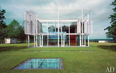 Thomas Phifer glass-and-steel Taghkanic House in the Hudson River Valley