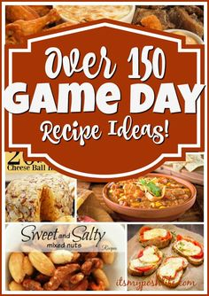 What recipes are you looking for? It is probably here. Over 150 Game Day Recipe Ideas!