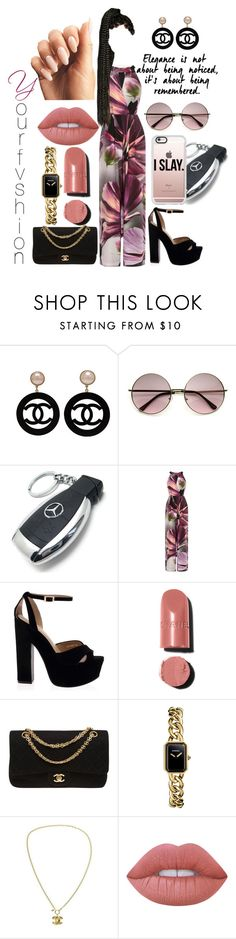 """""""I  S.L.A.Y"""" by yourfvshion ❤ liked on Polyvore featuring Chanel, Mercedes-Benz, Coast and Casetify"""