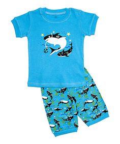 Look what I found on #zulily! Aqua Dolphin Pajama Set - Toddler & Boys #zulilyfinds