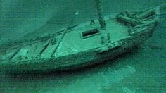 """This July 16, 2016, photo taken from underwater video shows the """"Washington""""…shipwreck from 1803 discovered In Great Lake Ontario this summer! 213 year old wreck"""