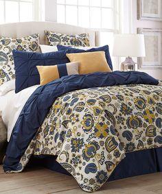 Lorna Paisley Eight-Piece Reversible Comforter Set